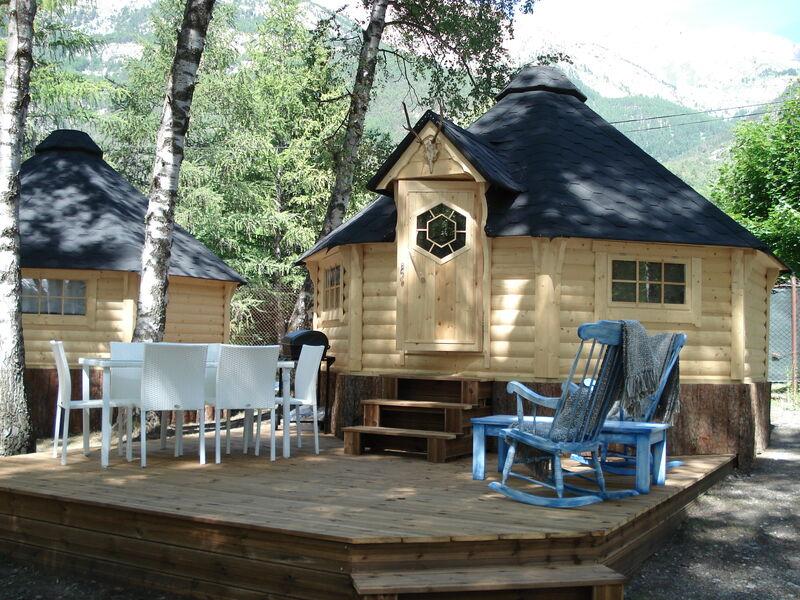 kota-refuge Iscle de Prelles - © Camping Iscle de Prelles