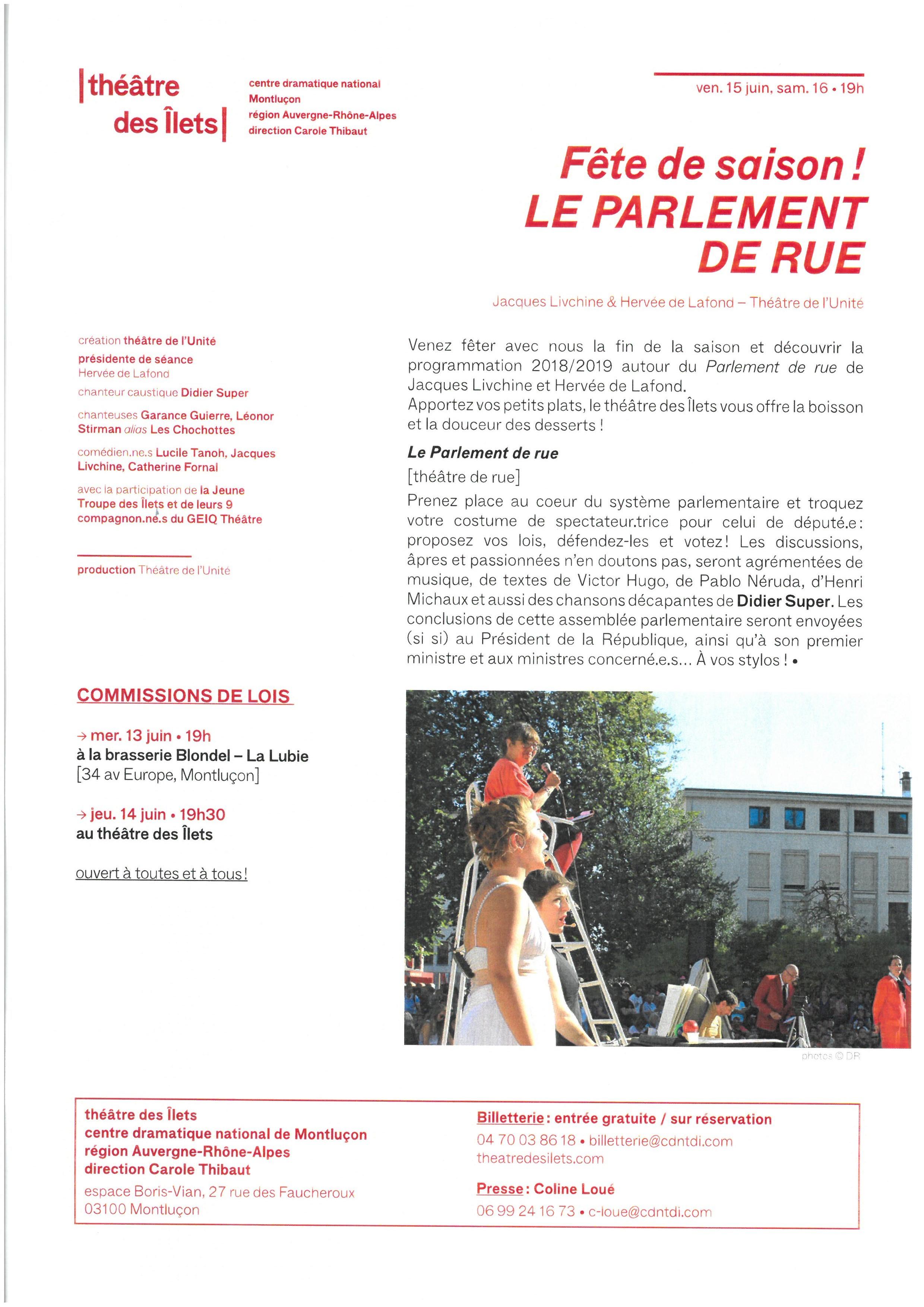le parlement de rue