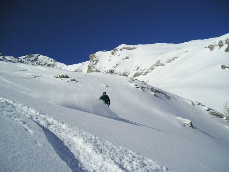 Sortie en ski hors-pistes avec Eric Fossard, Dévoluy, Hautes-Alpes - © Eric Fossard