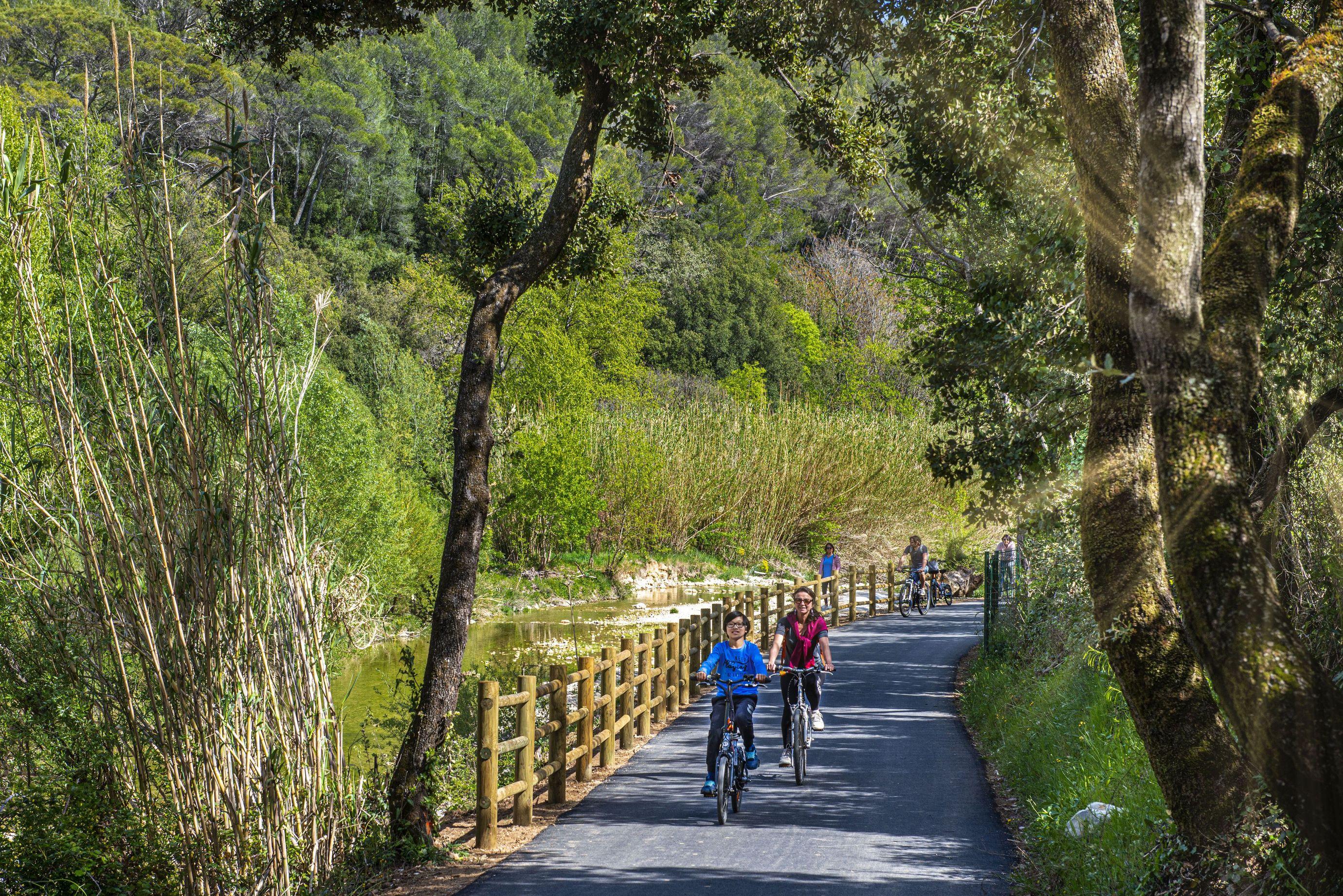 La Vigne à vélo de la Clappe à Rebouillon