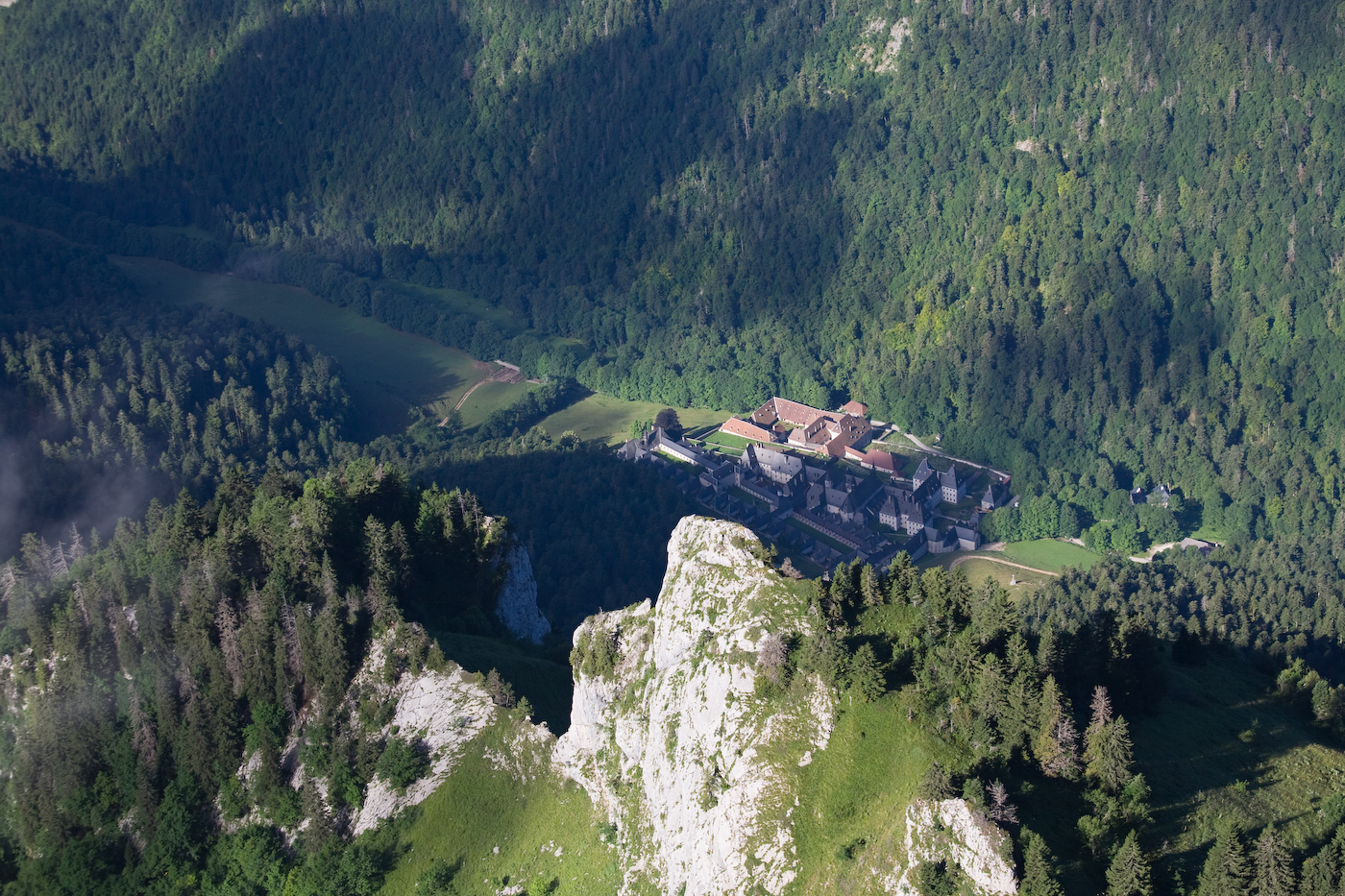 Monastère Grande Chartreuse depuis le Grand Som