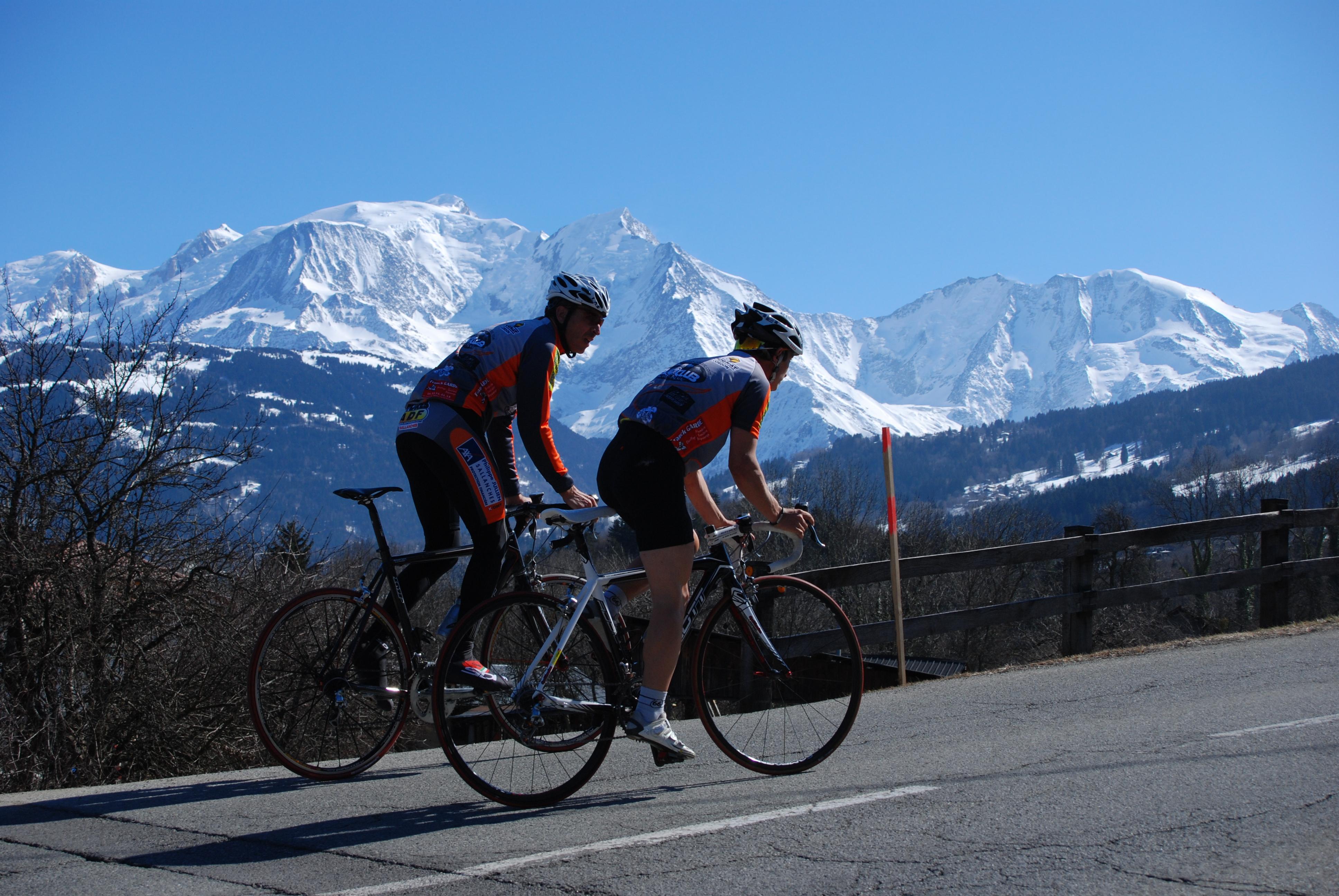 Boucle noire cyclotouristique au Pays du Mont Blanc Megève