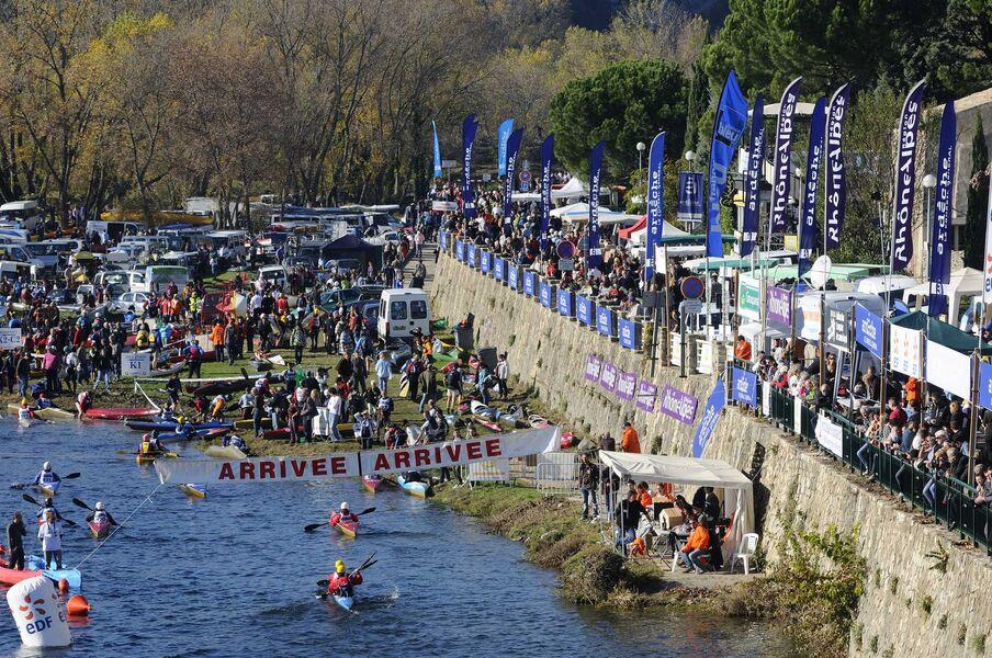 Arrivée du Marathon International des Gorges de l'Ardèche - Saint-Martin-d'Ardèche