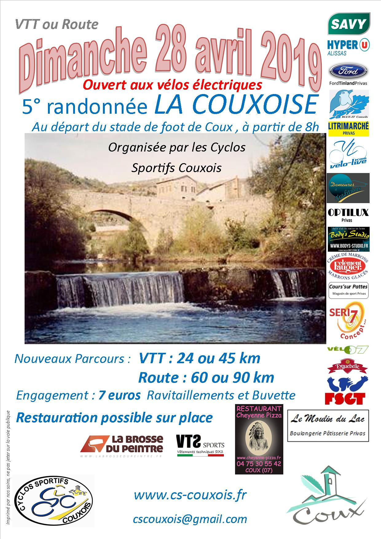 Events…Put it in your diary : La Couxoise Route & VTT  #5