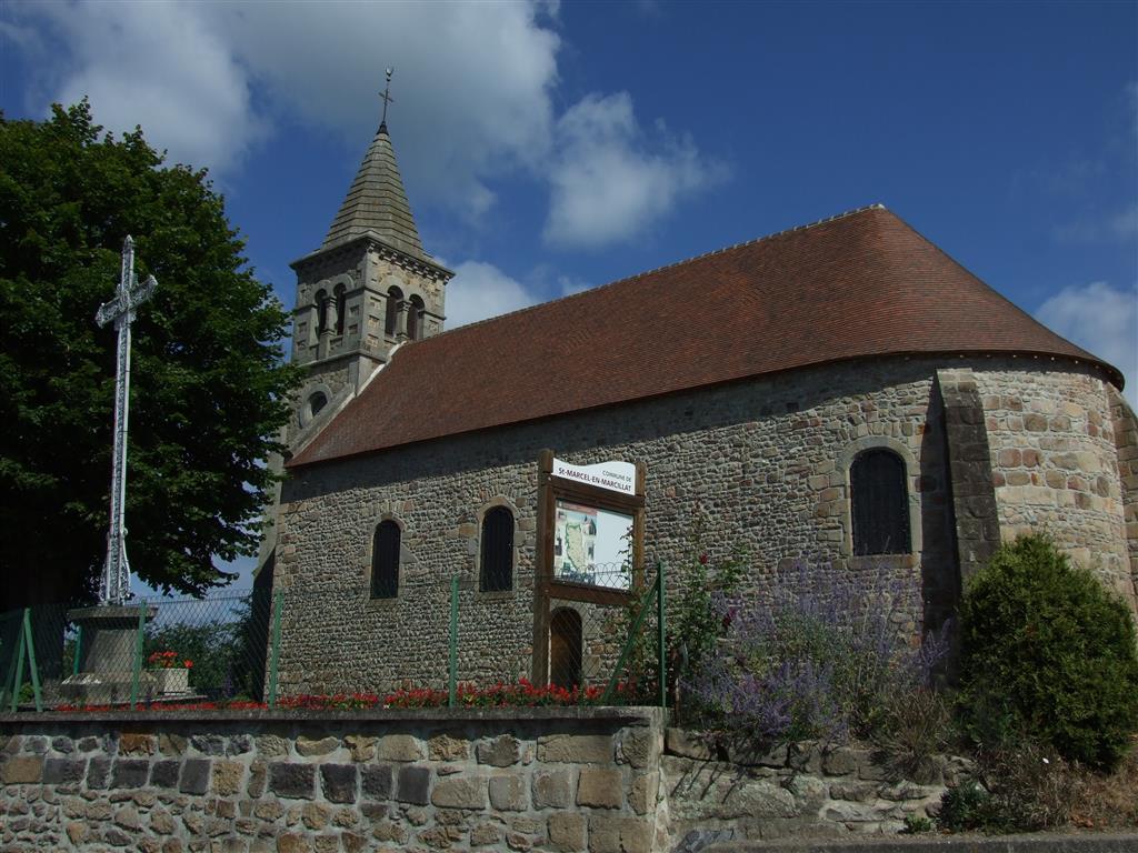 Église - St-Marcel-en-Marcillat Eglise Ⓒ Mairie St-Marcel-en-Marcillat