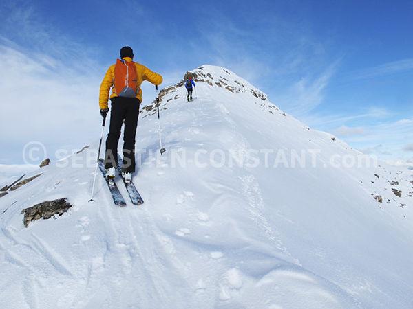 Ski de rando pointe de l'Eyssina - © S. Constant