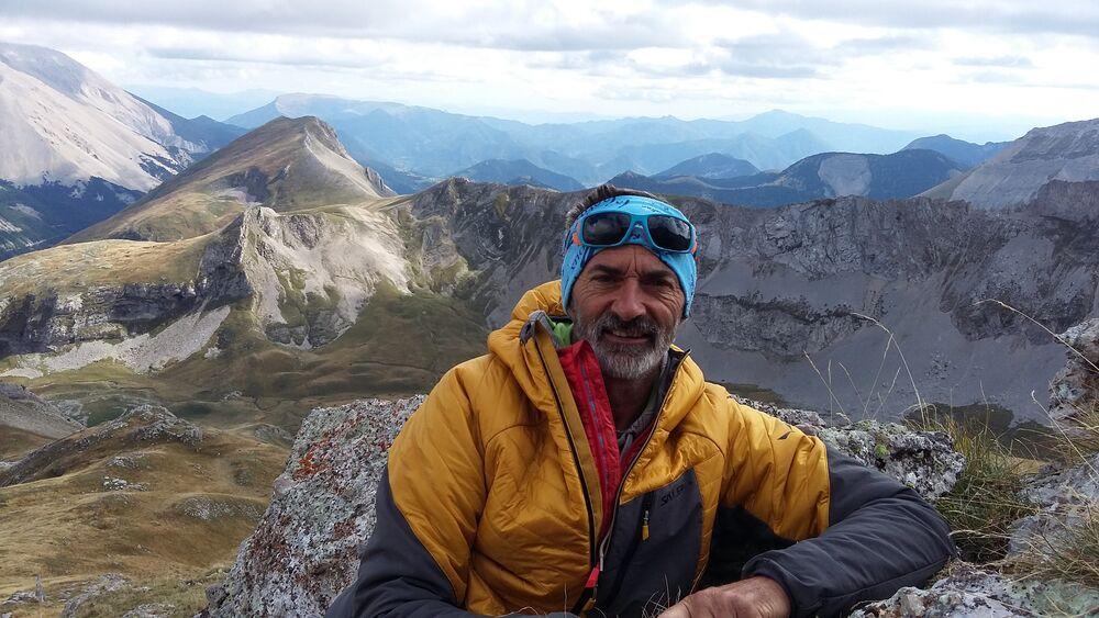 Sortie avec François Chaix, guide de haute-montagne, Dévoluy, Hautes-Alpes