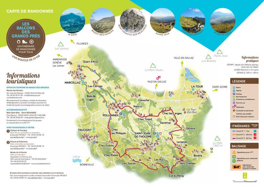 Hiking, horse riding and mountain biking trails - Les Balcons des Grands Prés