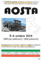 Voyage à Aoste (Italie) avec le Comité de jumelage de Vernoux-en-Vivarais - Vernoux-en-Vivarais