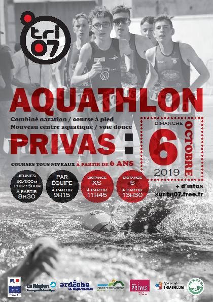 Rendez-vous futés ! : 1er Aquathlon de Privas