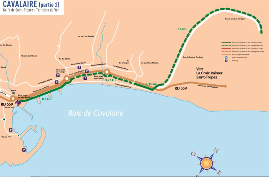 Parcours Cyclable du Littoral  - V65 : Cavalaire > La Croix-Valmer