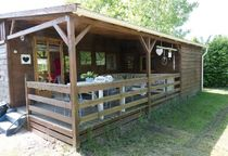 Camping Domaine Sainte-Marie Chalet vert Ⓒ Site internet - 2020