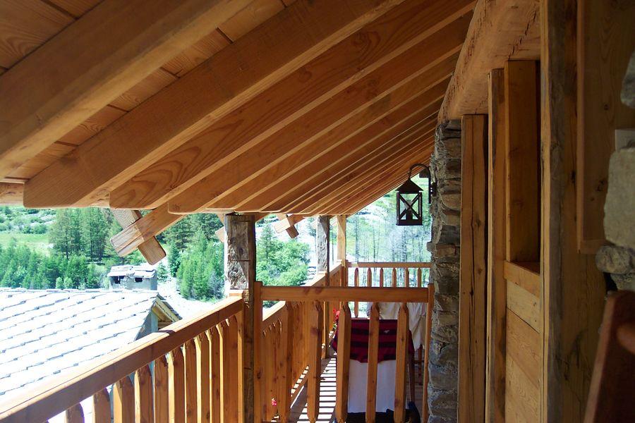 Gite 7 degrés Est Ristolas Queyras balcon