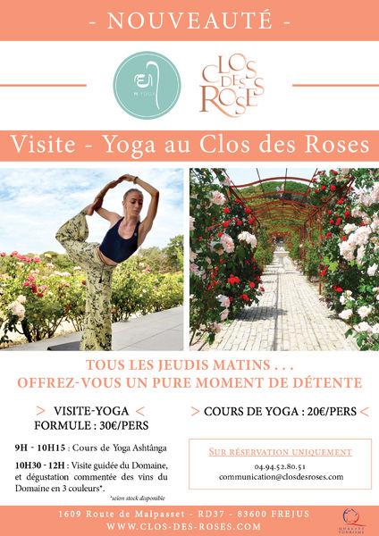 Visite Yoga au Clos des Roses