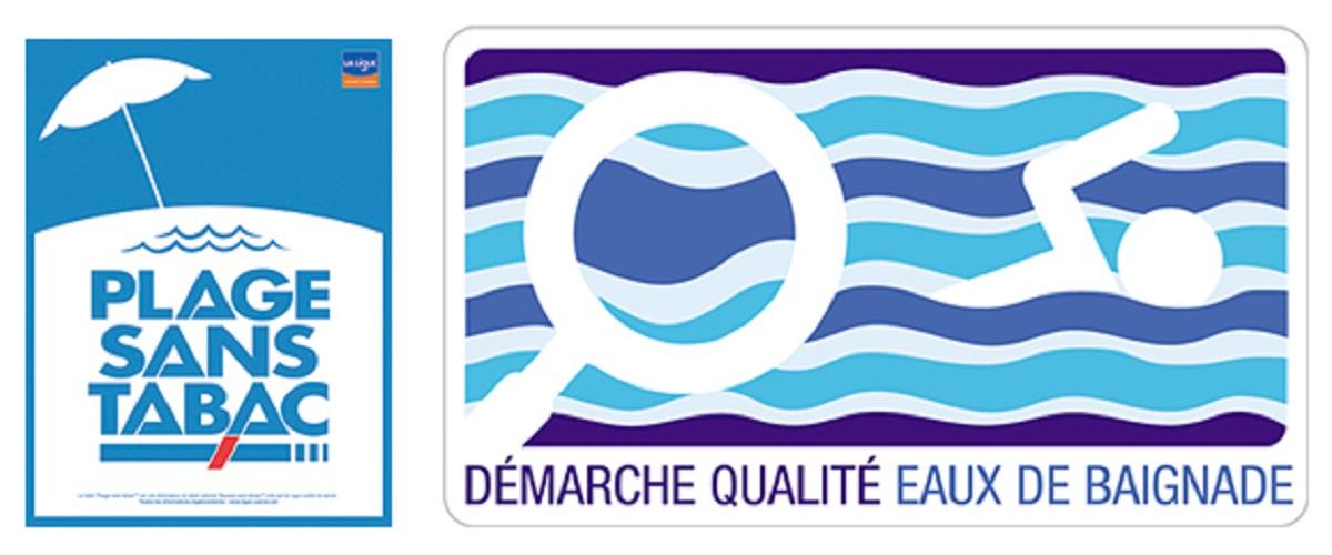 Logo plage sans tabac et qualité des eaux de baignade