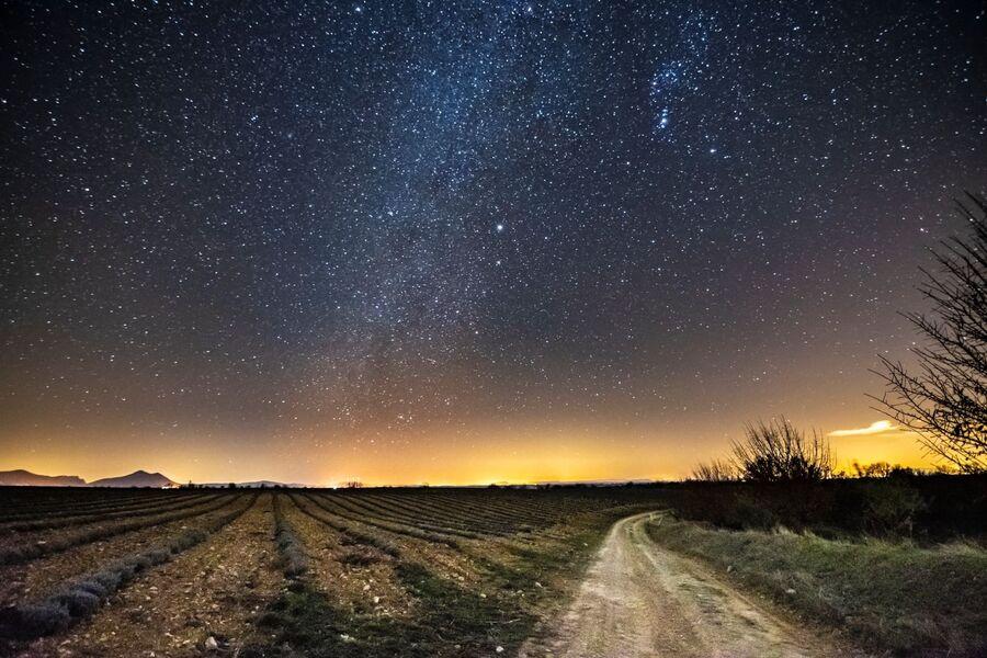 Nuit sur le plateau de Valensole