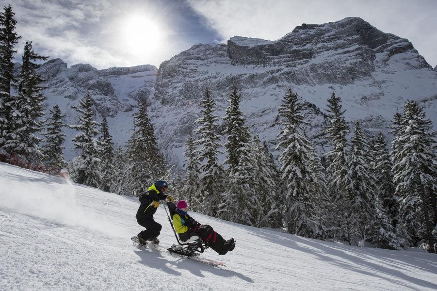 Ski assis avec l\'Anaé