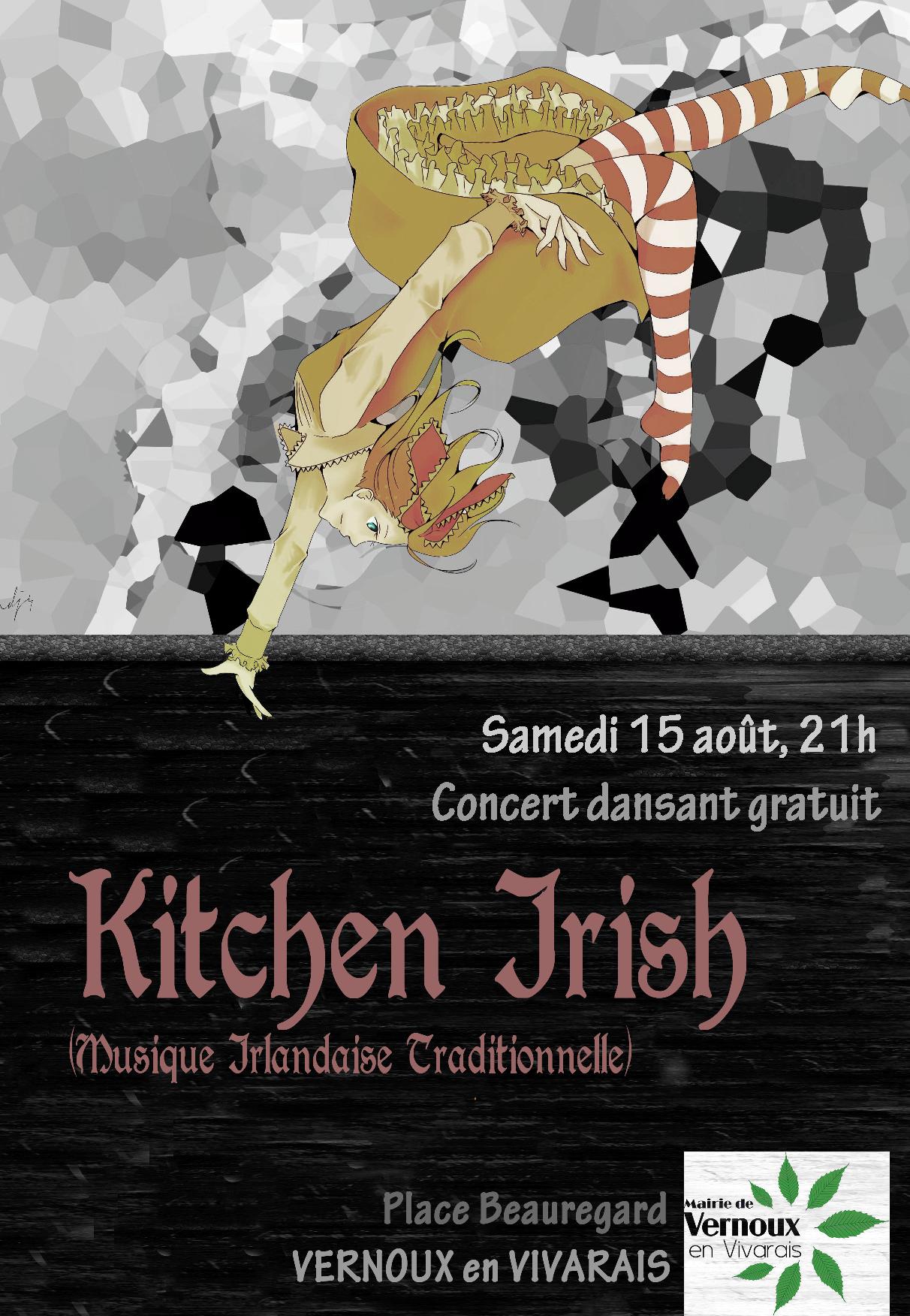 Events…Put it in your diary : Concert dansant du groupe Kitchen Irish (musique traditionnelle irlandaise)