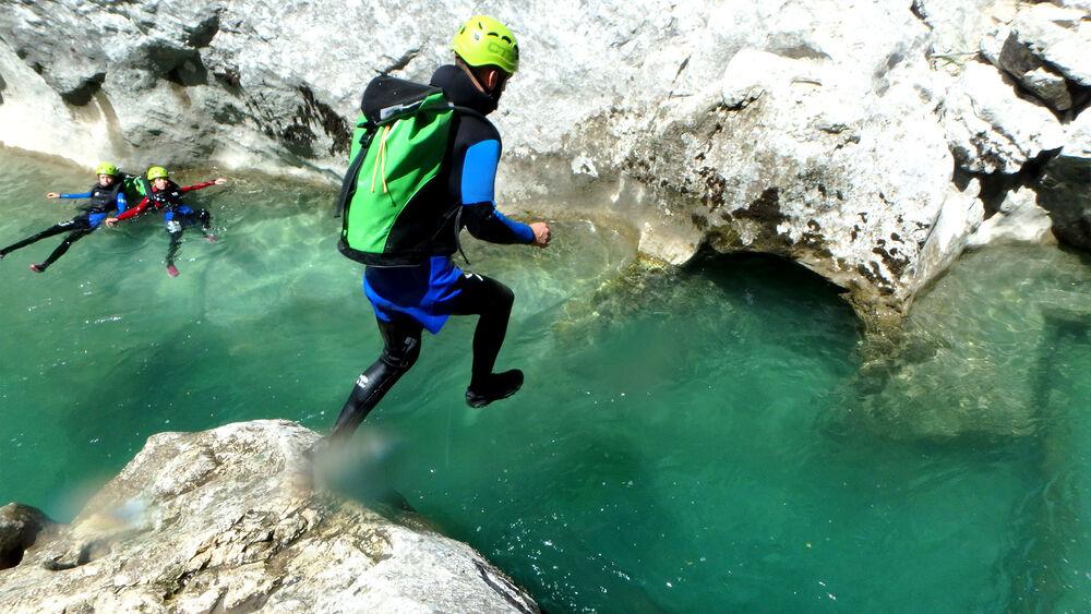 Sauter dans le canyon du Verdon