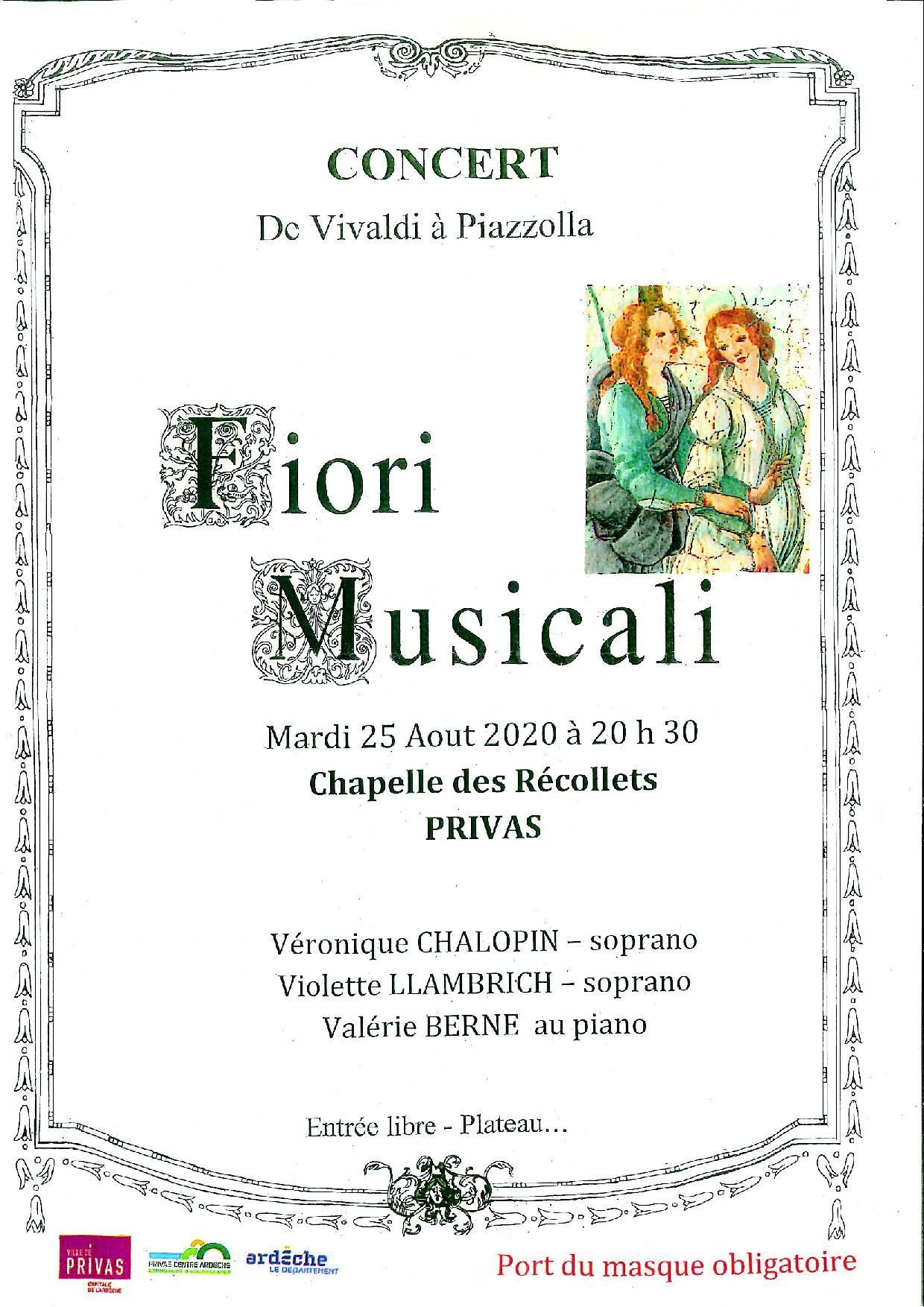 Events…Put it in your diary : Concert Fiori Musicali