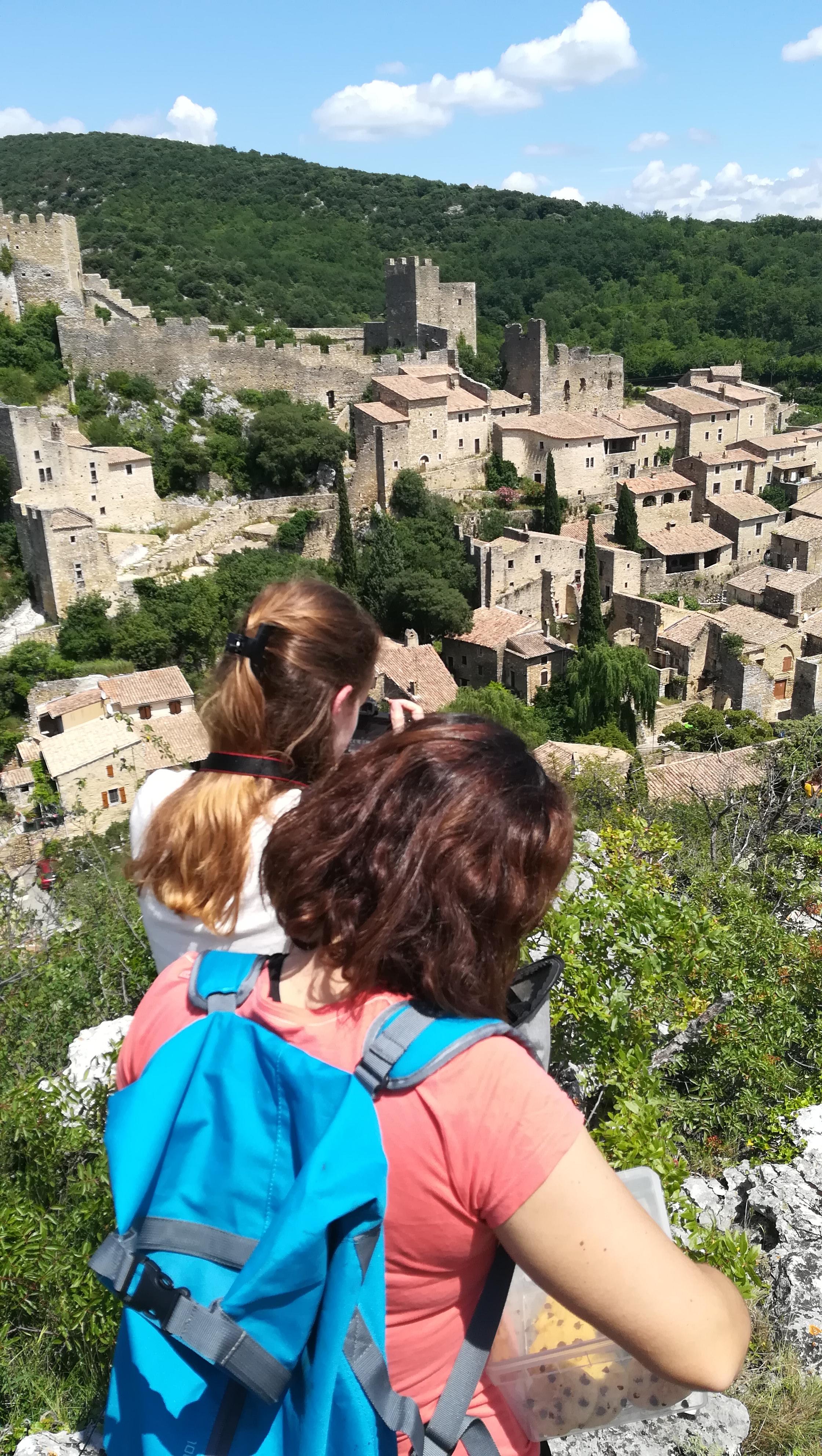 Vue depuis les hauteurs du village