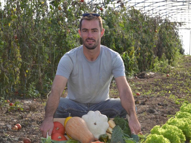 Mickael Vinet et ses légumes