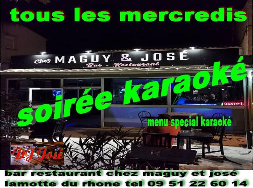 Soirée karaoké chez Maguy et José>