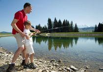 Concours de Pêche au Plan d'eau du Mont-Lachat Haute Savoie