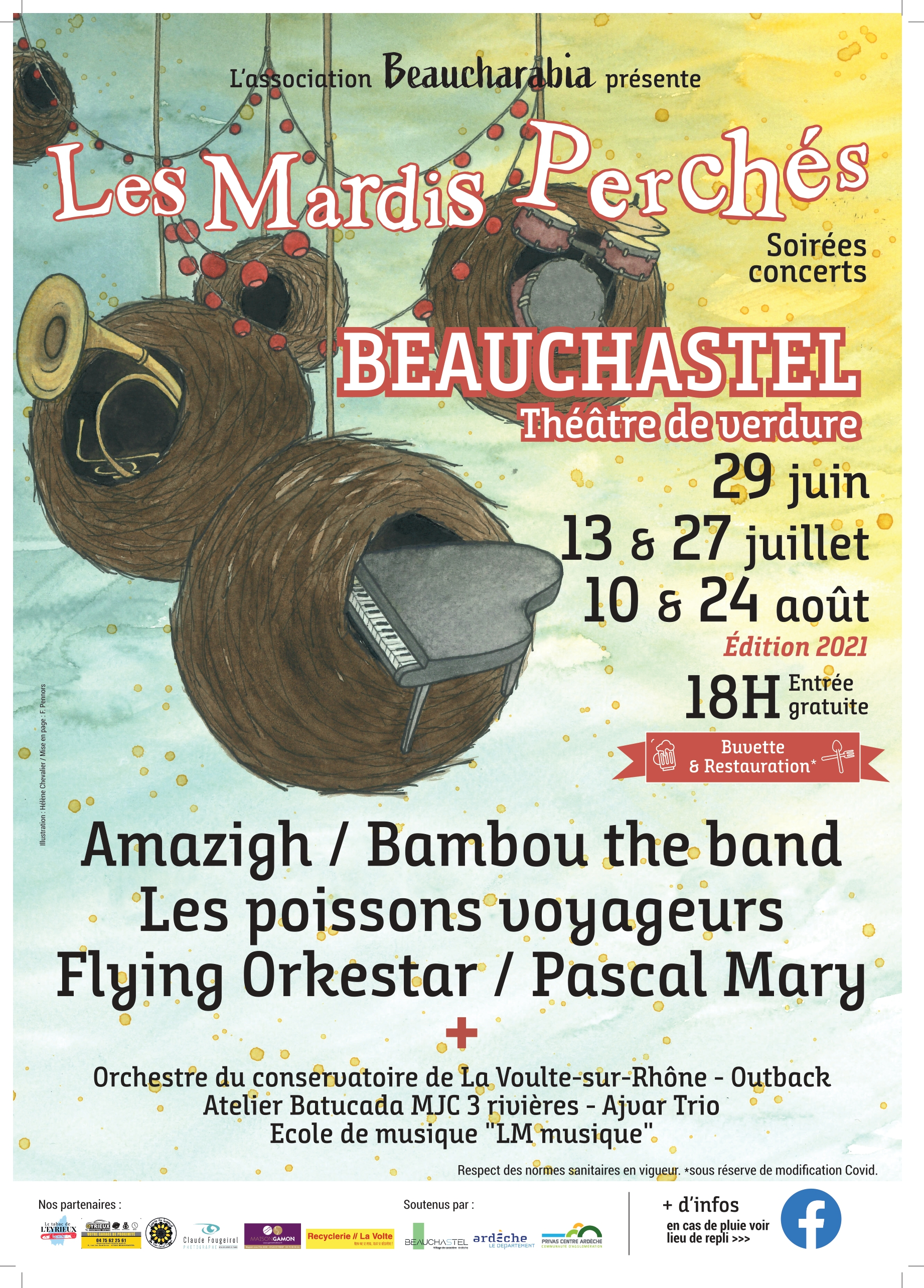 Events…Put it in your diary : Les Mardis Perchés