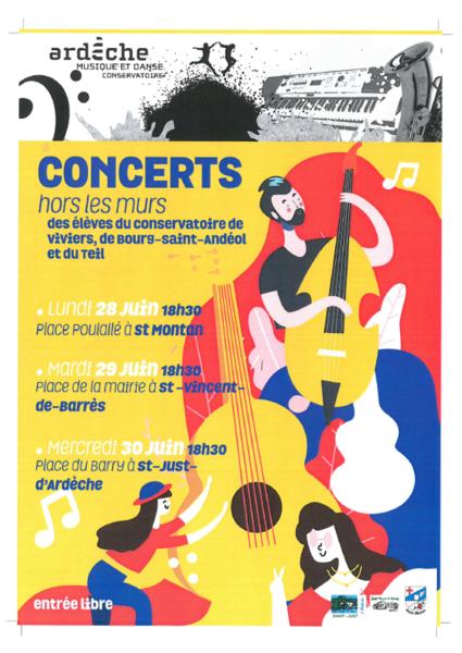 Concert hors-les-murs des élèves du conservatoire