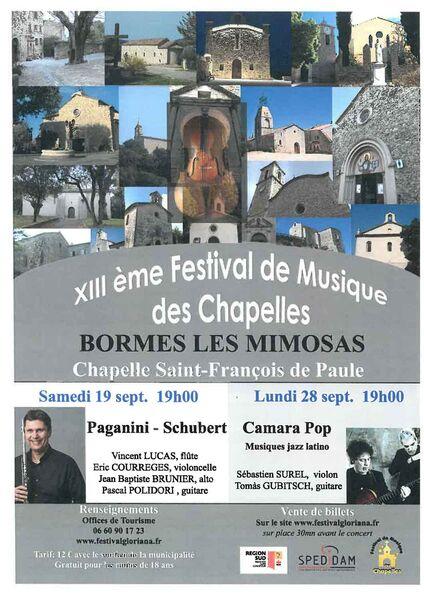 XIIIème festival de musique des Chapelles