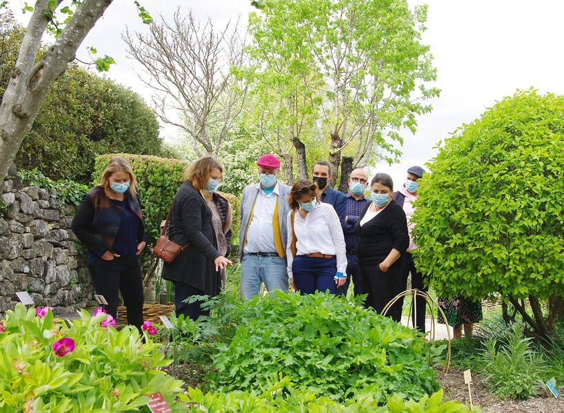 visite guidée des jardins de Salagon