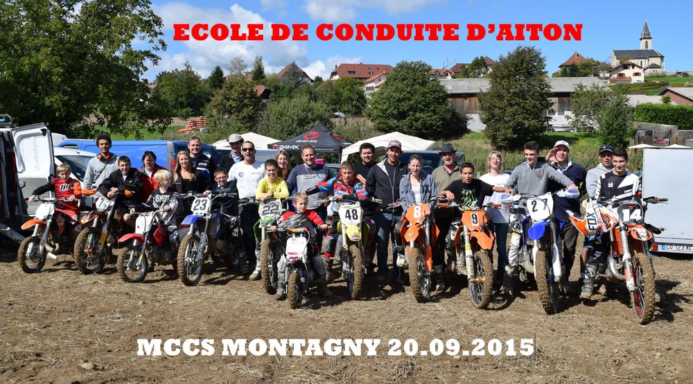 moto cross d'Aiton