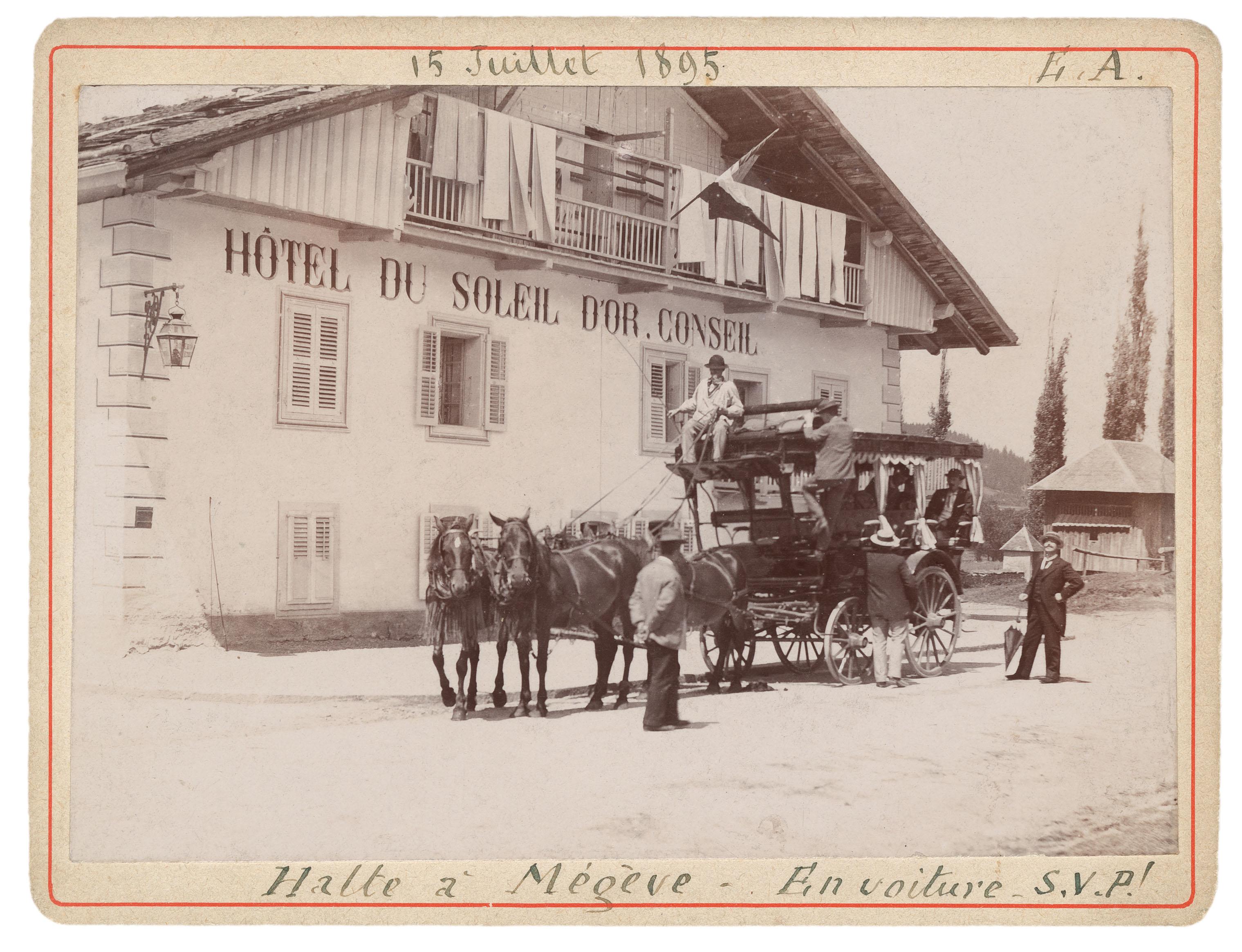Carte postale musée de Megève