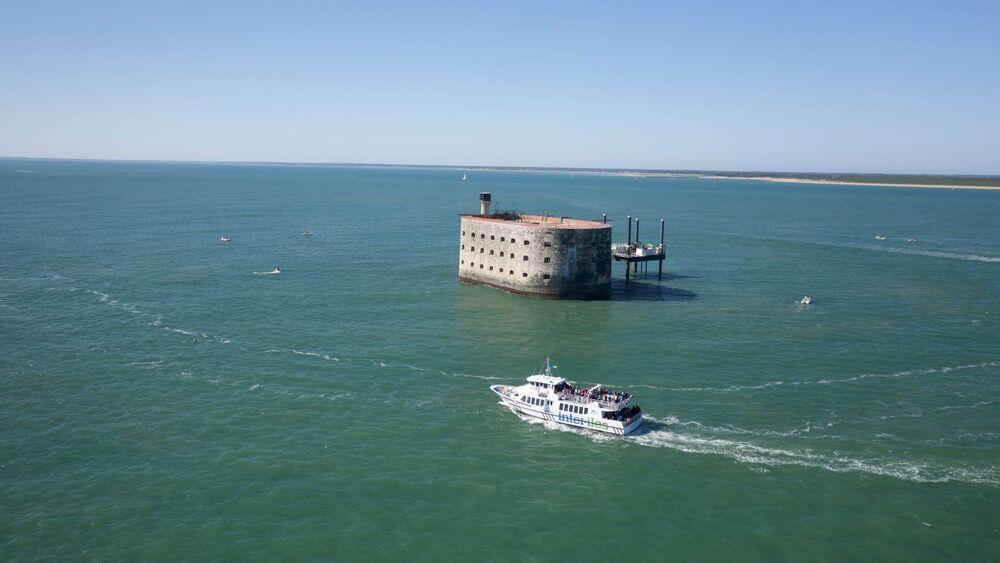 Fort Boyard vu den haut