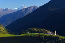 vue sur la La Gurraz et Mont Blanc