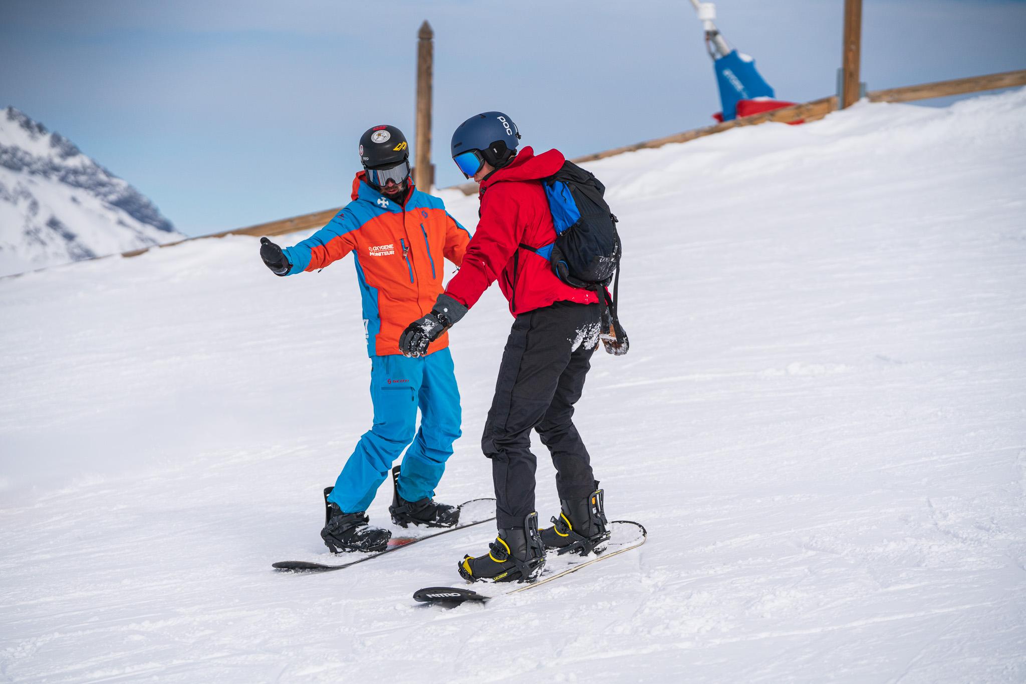 Cours de snowboard avec Oxygène