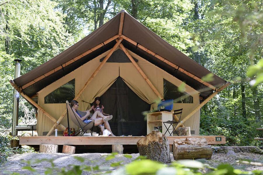 Tente trappeur Camping Huttopia Gorges du Verdon
