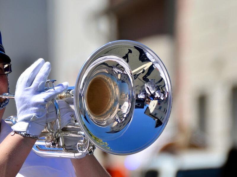 Trompettiste de fanfare