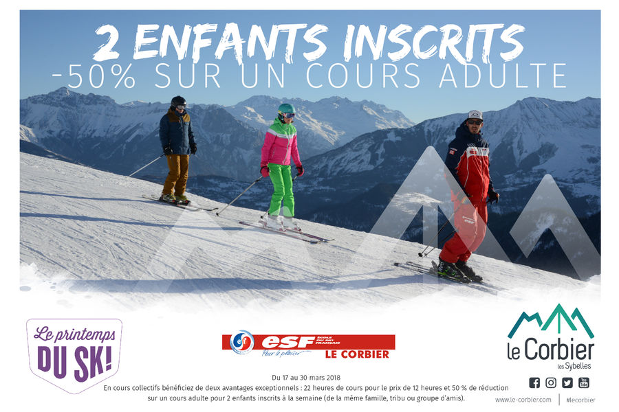SKIING INTO SPRING : Group lessons adult -50%