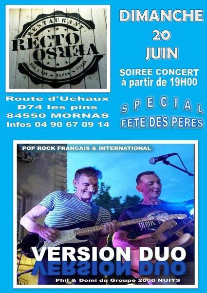 Soirée concert au Recto Verso spéciale fête des pères  - Mornas>