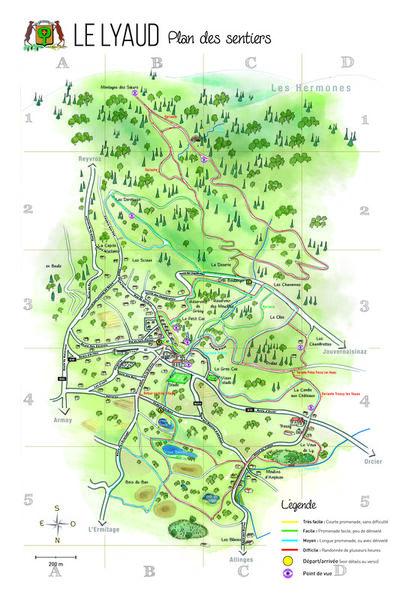 Plan détaillé des sentiers