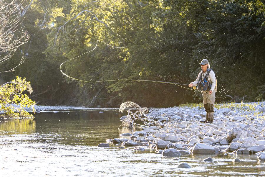 Pêche à la mouche dans la rivière Jabron