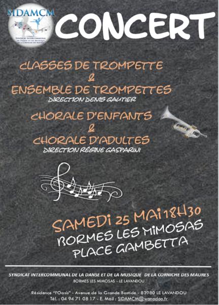 Concert de trompettes et chorales