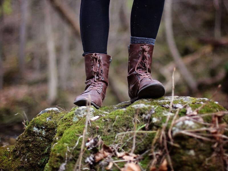 chaussures marche dans les bois