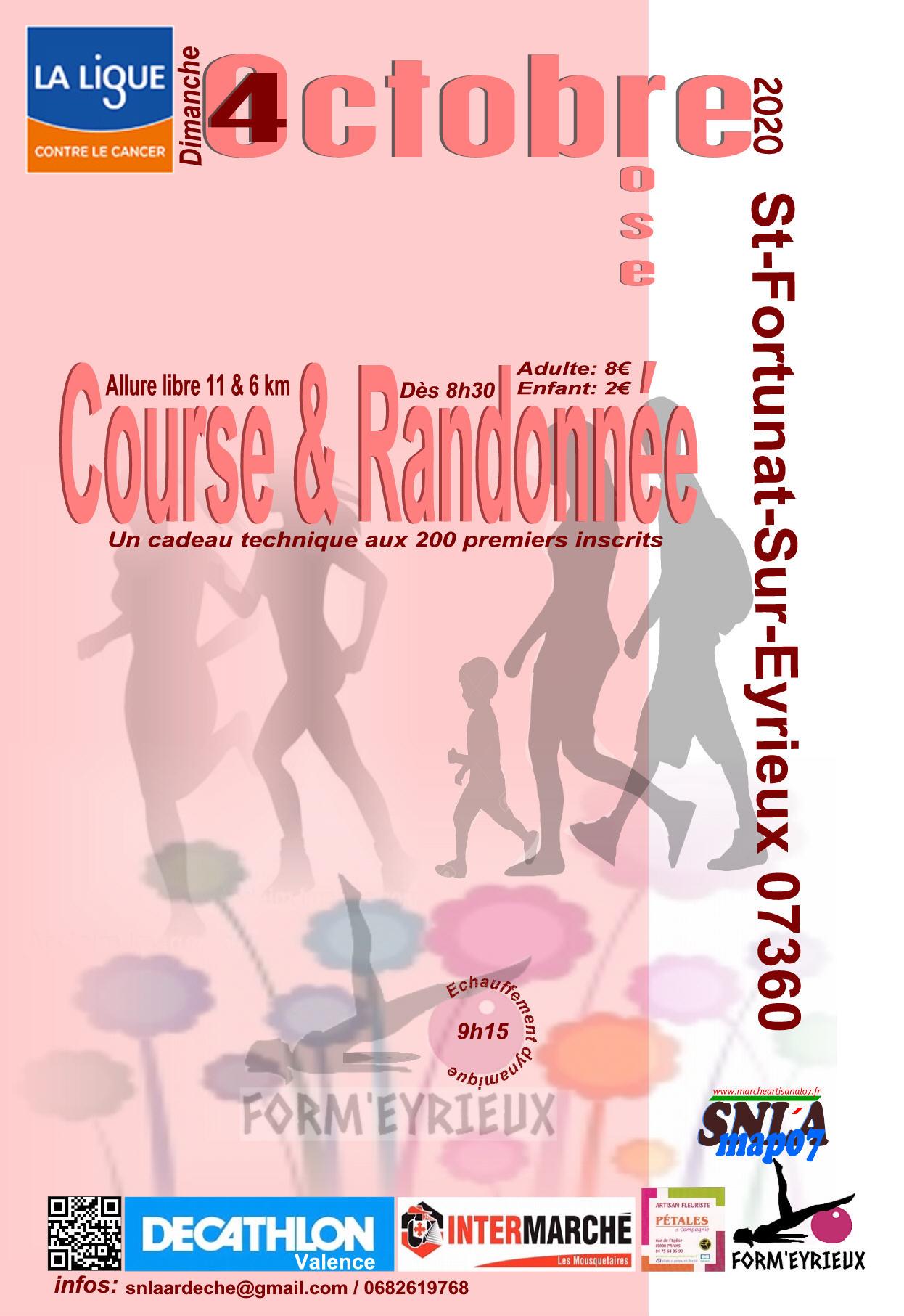 Octobre Rose : Course - Randonnée et Marché Artisanal