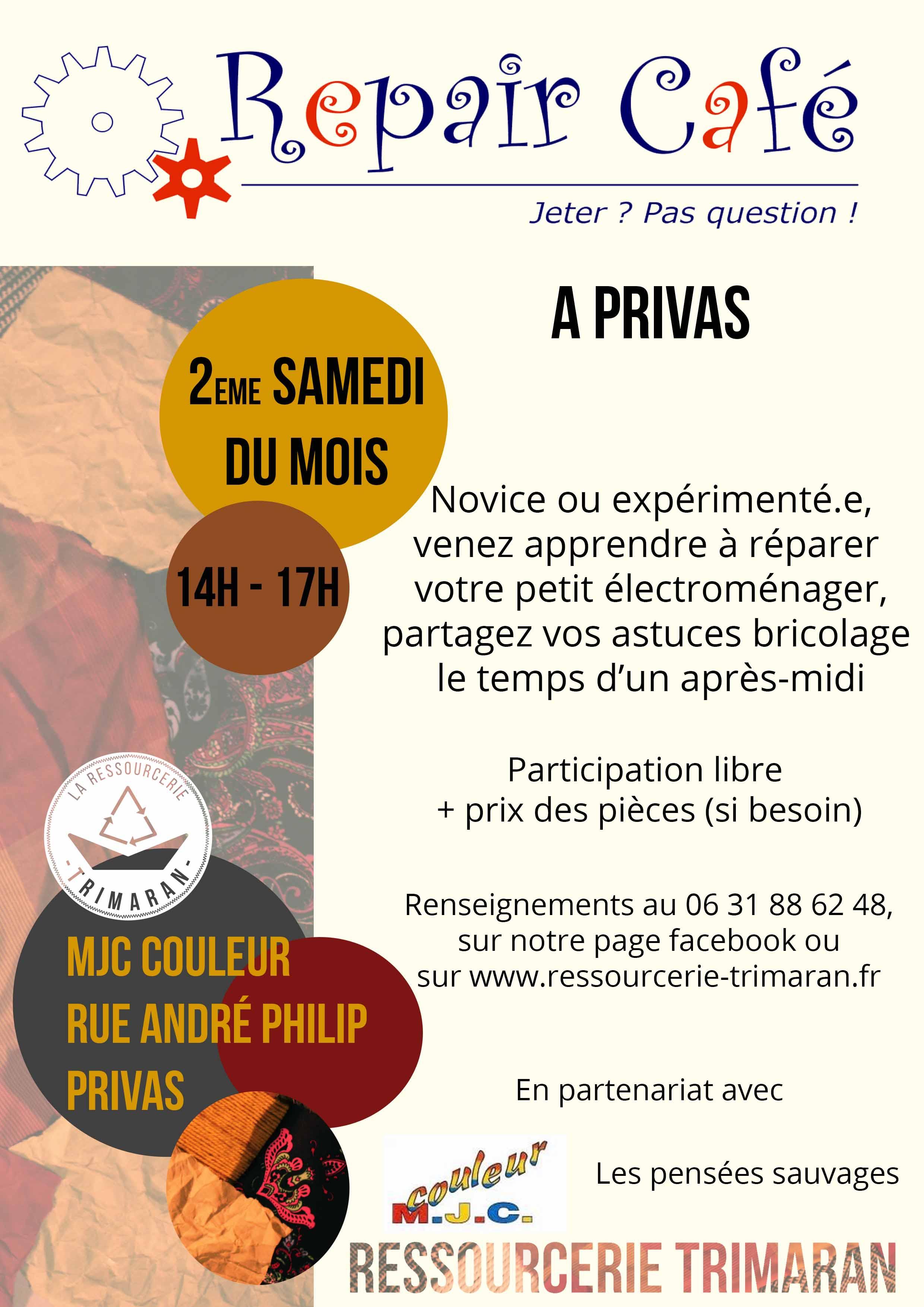Events…Put it in your diary : Repair'café (atelier de réparation)
