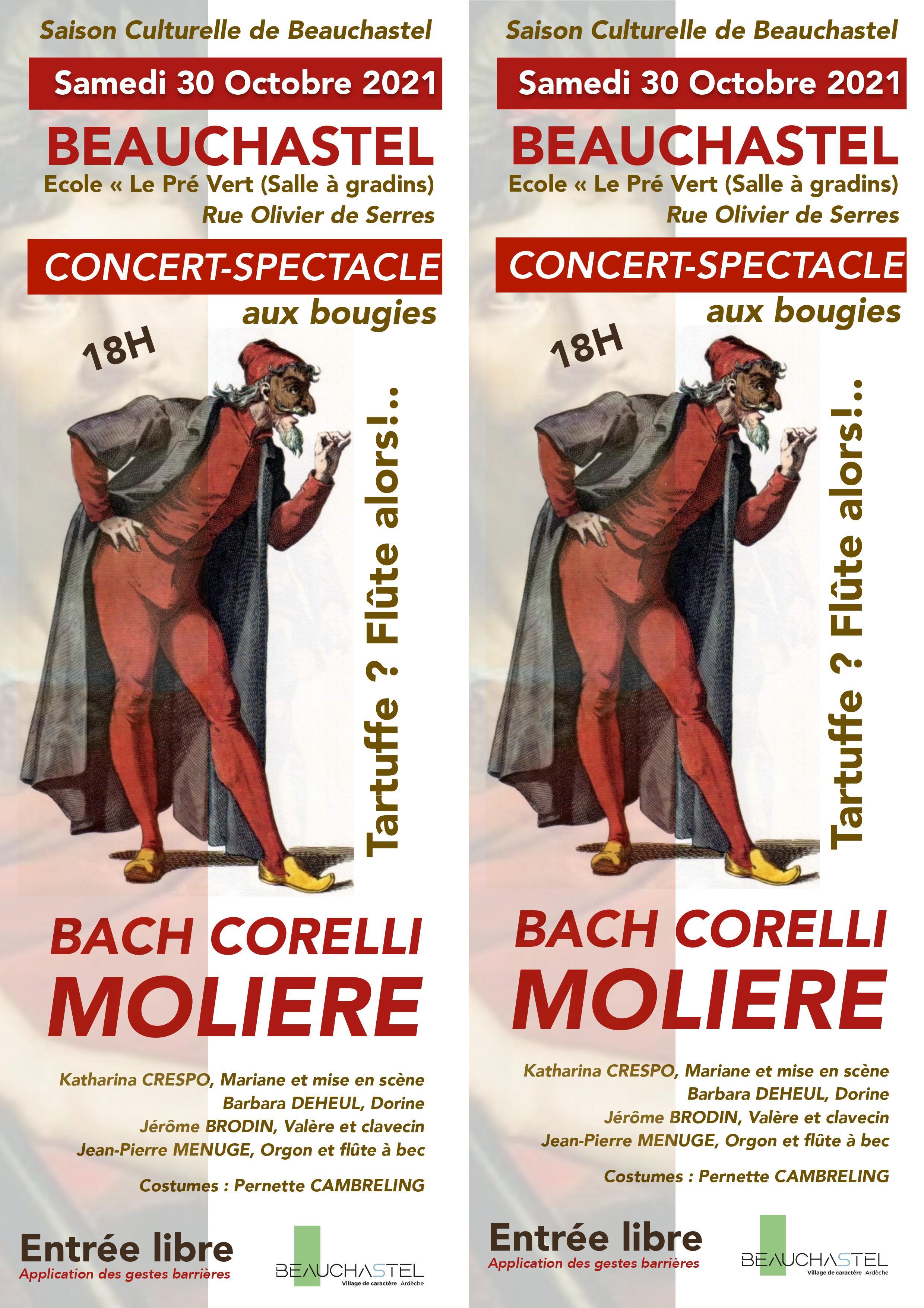 Alle leuke evenementen! : Concert-spectacle aux bougies : Tartuffe ? Flûte alors !...