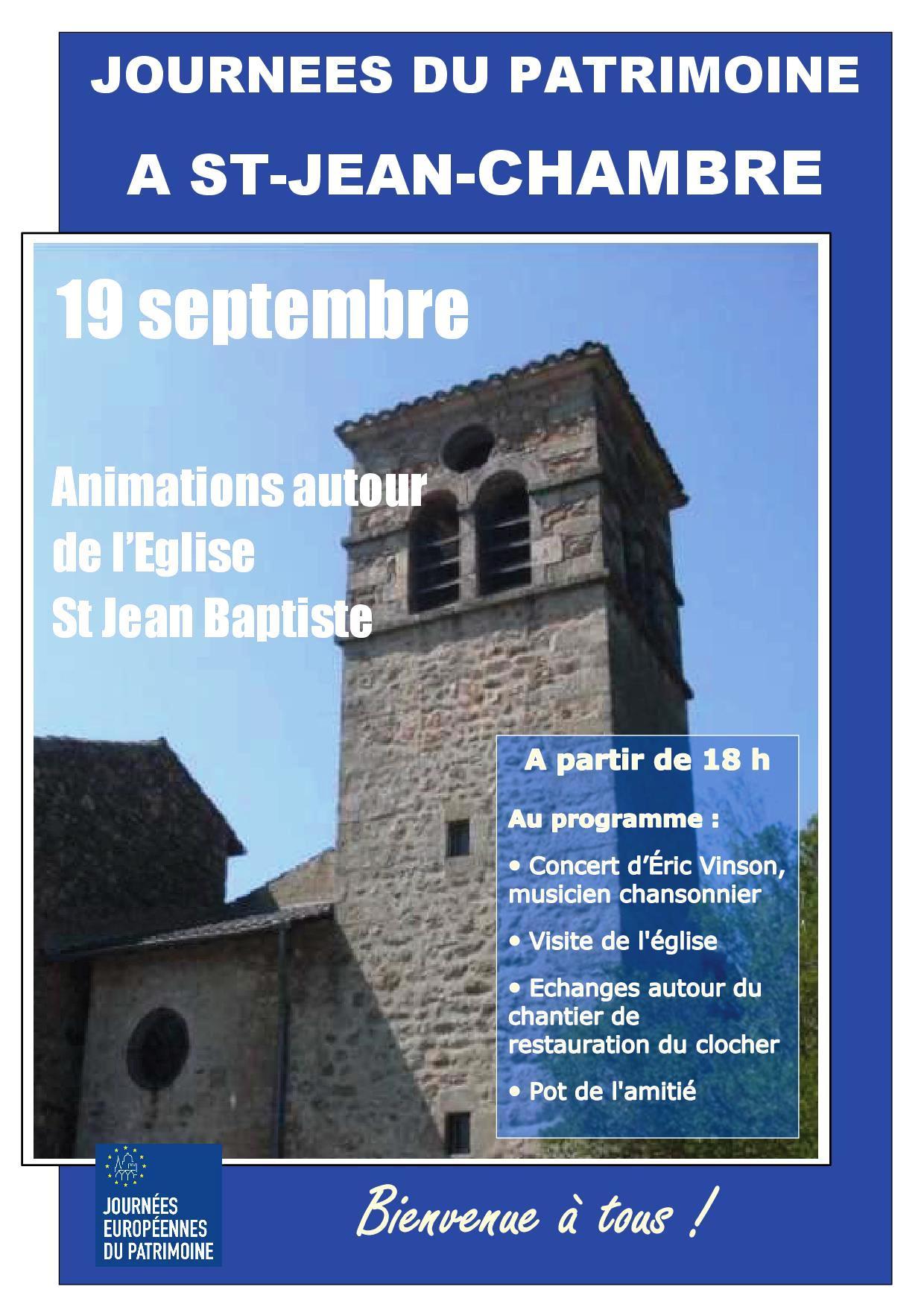 Rendez-vous futés ! : Journées européennes du patrimoine : animations autour de l'église Saint-Jean-Baptiste