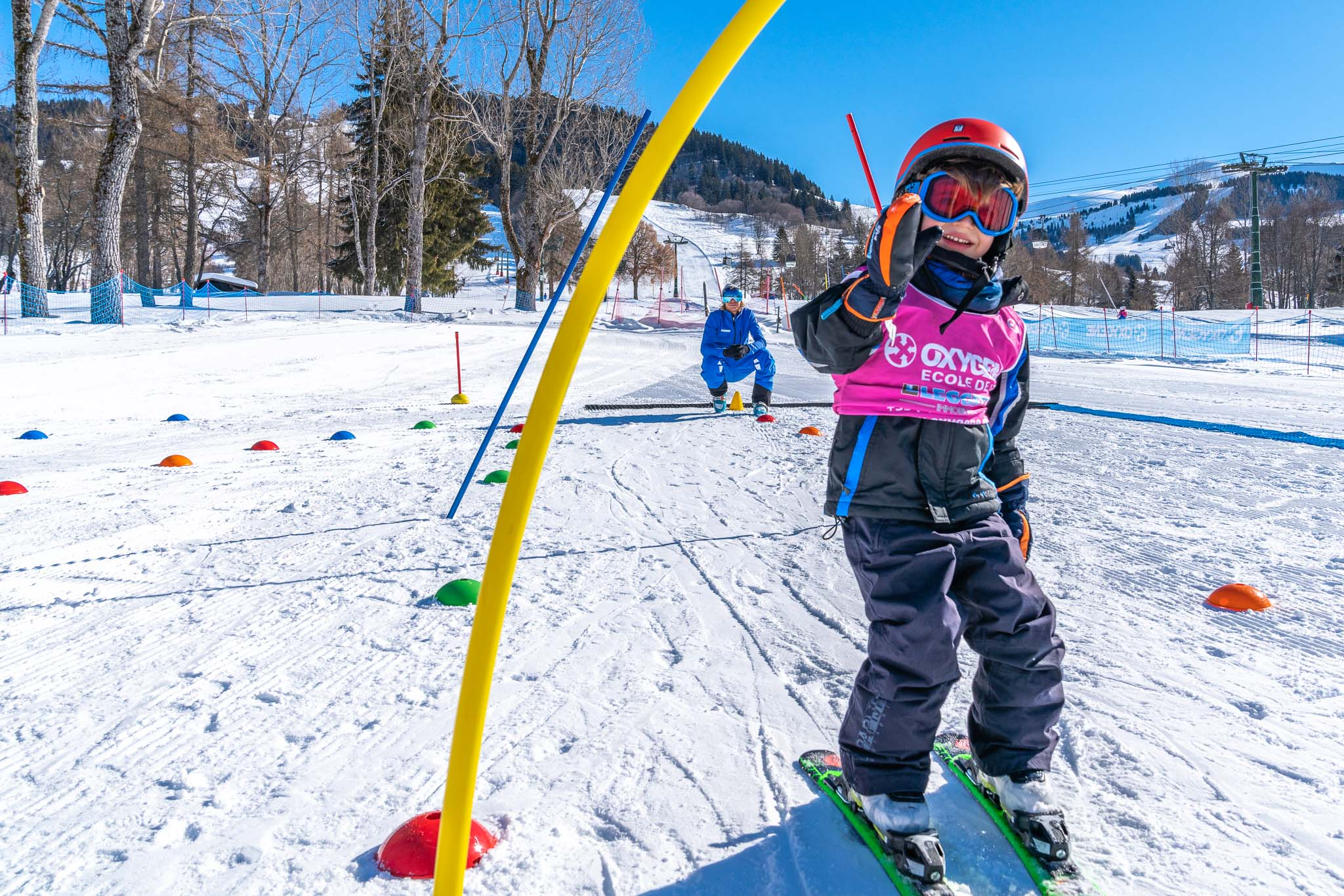 Oxygene ski lessons in Megeve